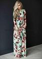 Plus Size Pocket Design Bohemian Dress