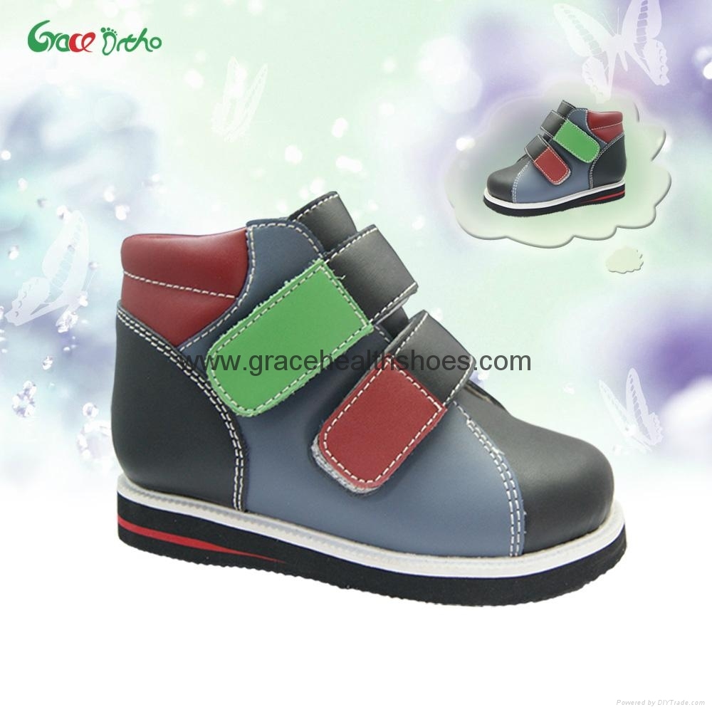 Kids leather Orthopedic Shoes for correct flat foot and x ...