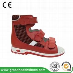 Children orthopedic sandal for correcting problem gait