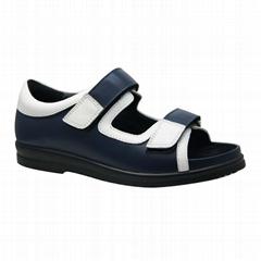 extra depth Diabetic leather women comfort sandal
