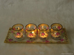 Hand painted glass Craft