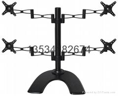 四屏鋁合金顯示器支架|LED支架 CY402