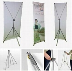 Aluminum adjustable X banner display stand 60*160cm