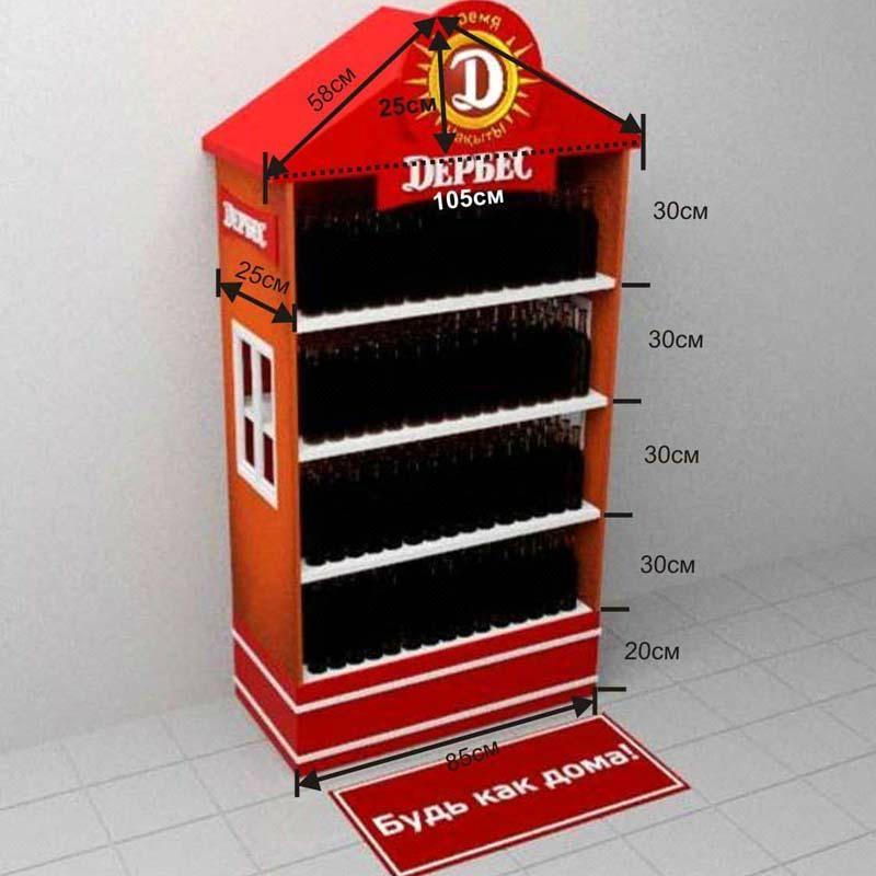 malibu wine display products acrylic beer display MDF beer display 4