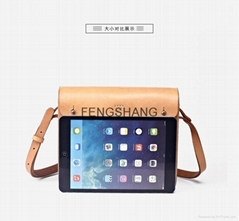 Leather crossbody square bag AP629