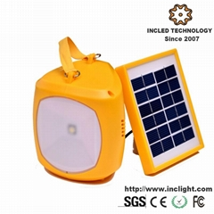 Portable Solar Lantern Camping Light with USB Charger