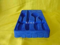 PVC Flocking Blister Hardware Plastic Tray