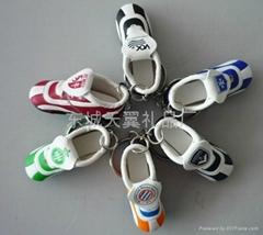 mini football shoe keychain
