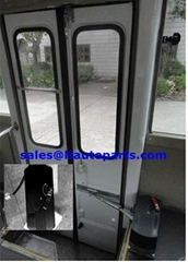 Electric folding door pump for city bus