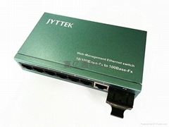 一光七電光纖交換機 1光7電光纖收發器