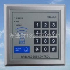 門禁刷卡一體機密碼鍵盤V2000C