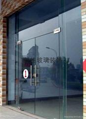 广州钢化玻璃门维修安装订做