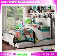 博洛尼亚风格卧室家具实木床