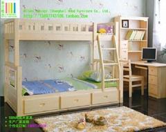 迪斯尼儿童套房M-888:實木上下床+電腦桌
