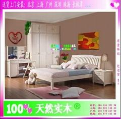 Milano时尚实木卧室套房家具