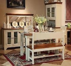 博洛尼亚餐厅家具实木餐桌