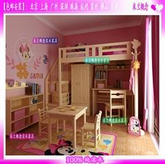 Disney迪斯尼儿童套房實木傢具