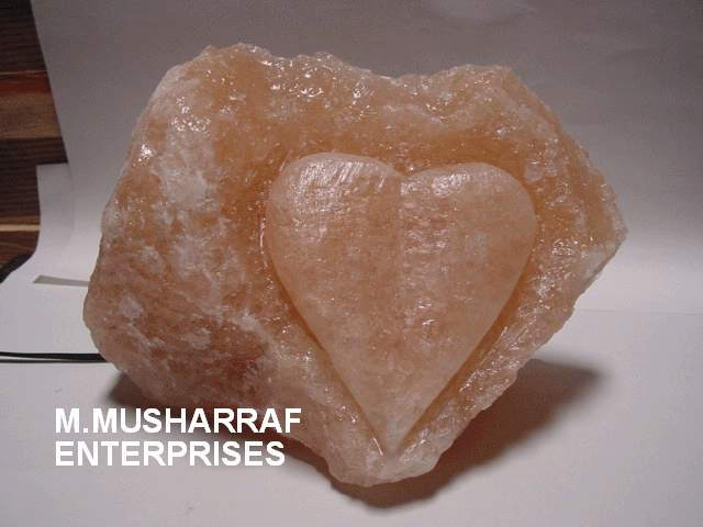 Heart Rock Salt Crystal Lamp. 1