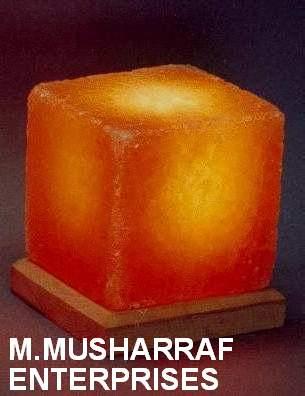 Cube Himalayan Salt Crystal Lamp 1