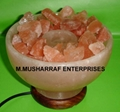 ROCK SALT CRYSTAL FIRE BOWL LAMP