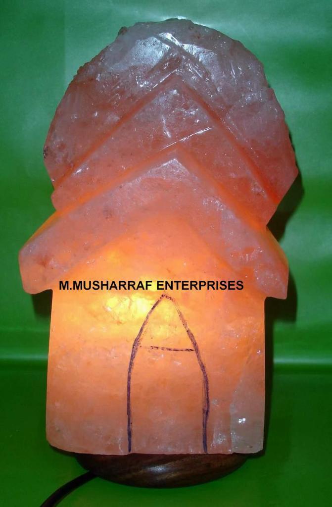 ROCK SALT CRYSTAL HUT LAMP 1