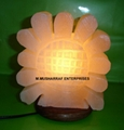 HIMALAYAN ROCK SALT SUNFLOWER LAMP