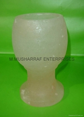 HIMALAYAN SALT GLASS CANDLEHOLDER