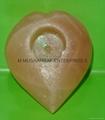 HIMALAYAN SALT HEART CANDLEHOLDER