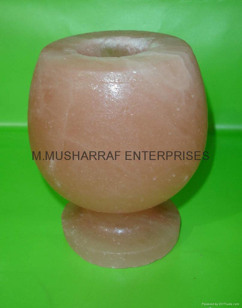 Himalayan Wine Glass Candleholder