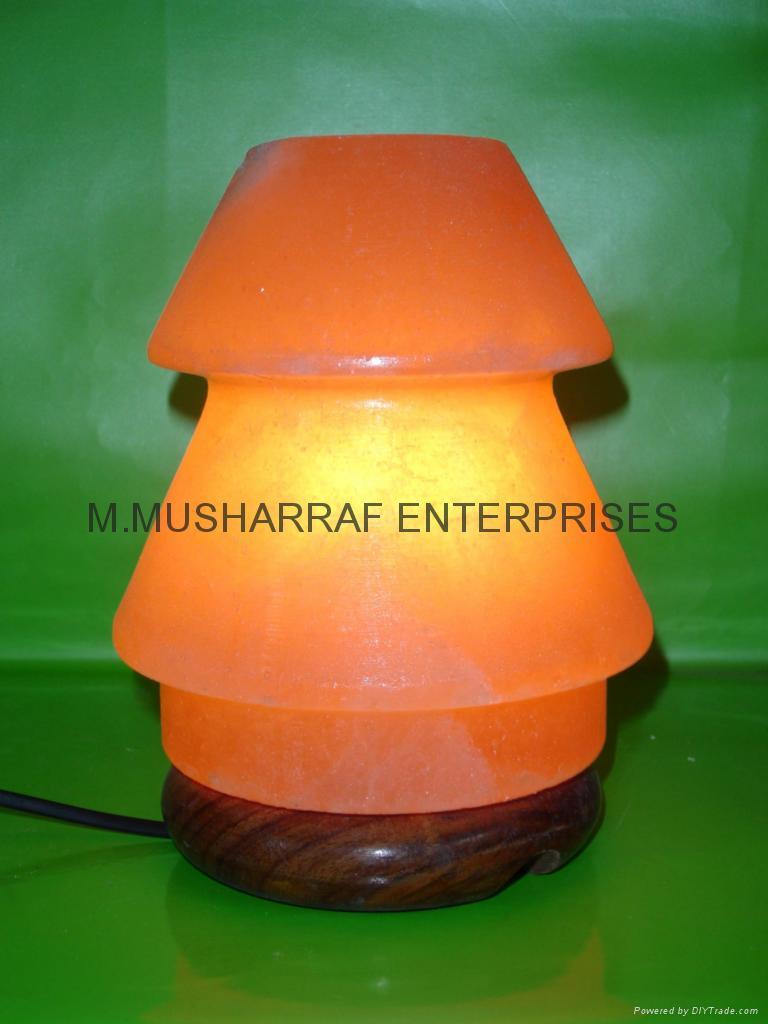 HIMALAYAN ROCK SALT CRYSTAL UMNERELLA Lamp. 1