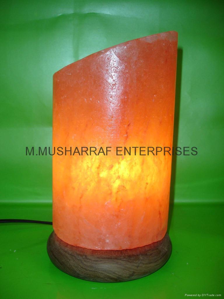 HIMALAYAN ROCK SALT CYLINDER LAMP. 1