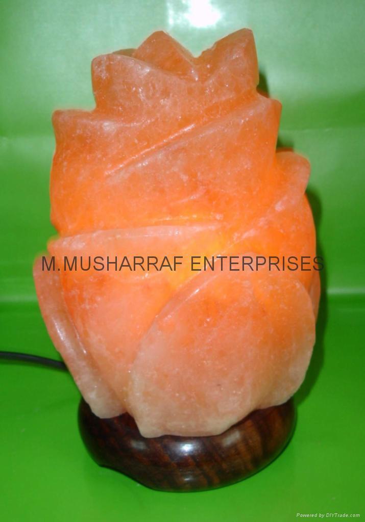 Are Rock Salt Lamps Good For You : HIMALAYAN ROCK SALT CRYSTAL RED ROSE LAMP - Pakistan - Manufacturer