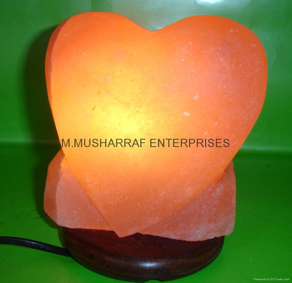 HIMALAYAN ROCK SALT HEART LAMP 1