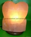 HIMALAYAN ROCK SALT HEART LAMP 2