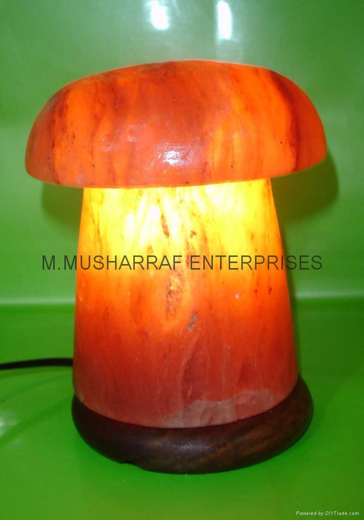 HIMALAYAN ROCK SALT CRYSTAL MASHROOM LAMP 1