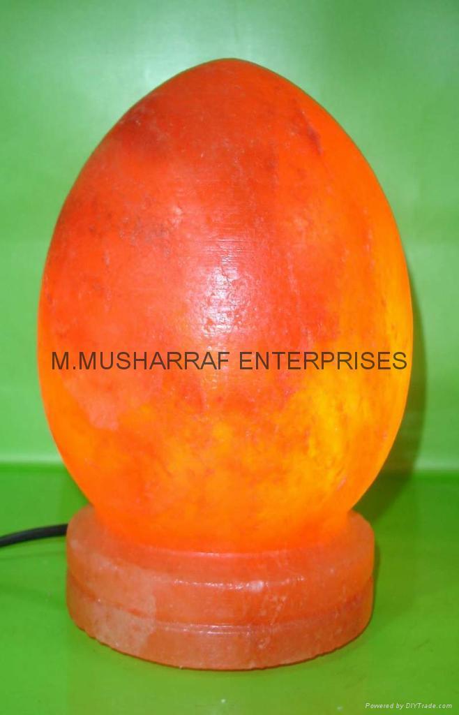 HIMALAYAN ROCK SALT EGG LAMP WITH SALT BASE 3