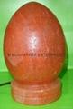 HIMALAYAN ROCK SALT EGG LAMP WITH SALT BASE