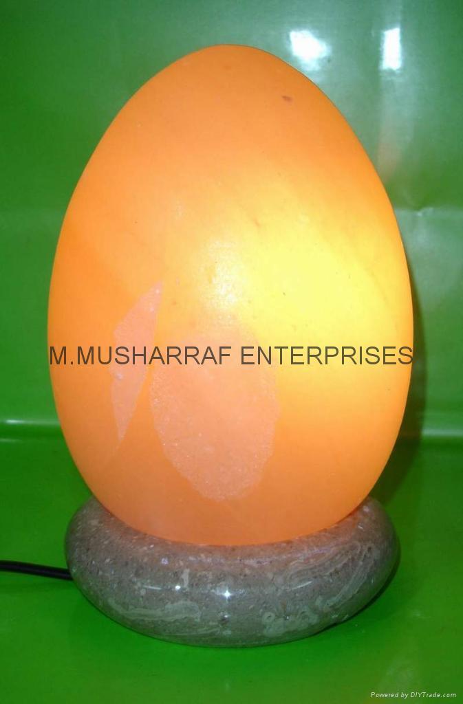 HIMALAYAN ROCK SALT CRYSTAL EGG LAMP 1