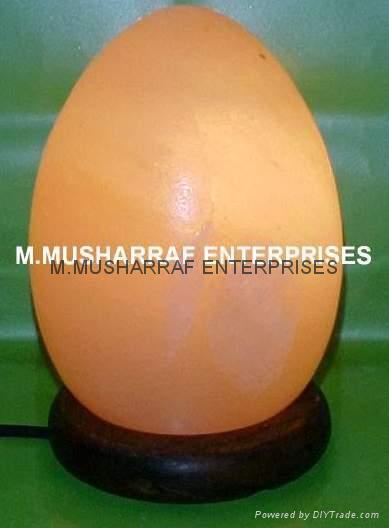 HIMALAYAN ROCK SALT CRYSTAL EGG LAMP 3