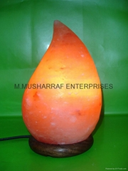 HIMALAYAN ROCK SALT CRYSTAL TEAR DROP LAMP