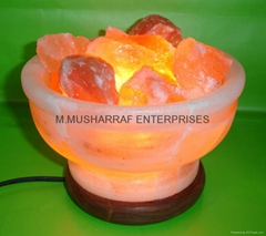 HIMALAYAN ROCK SALT CRYSTAL FIRE BOWL LAMP (Hot Product - 1*)