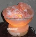 HIMALAYAN ROCK SALT CRYSTAL FIRE BOWL LAMP