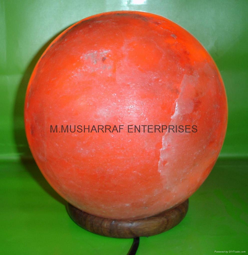 HIMALAYAN ROCK SALT CRYSTAL BALL LAMP 1