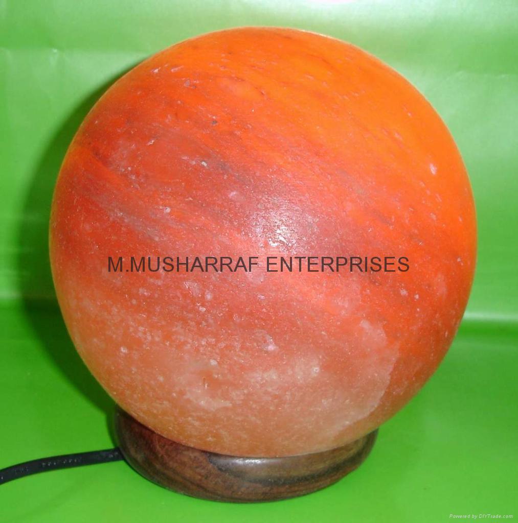 HIMALAYAN ROCK SALT CRYSTAL BALL LAMP 2