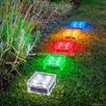 Solar Ice brick light with 4LED