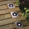 Solar deck light round or square