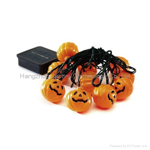 outdoor halloween decoration string light solar or AC or battery powered 2