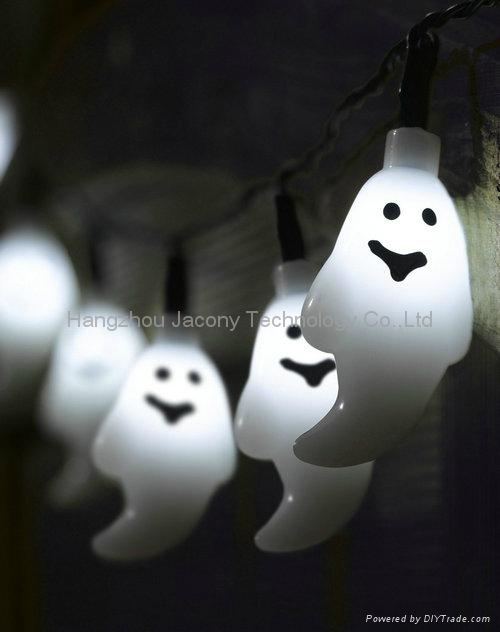 outdoor halloween decoration string light solar or AC or battery powered 1