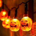 outdoor halloween decoration string light solar or AC or battery powered 4