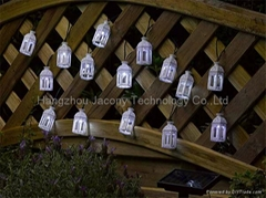 Outdoor solar holiday string light